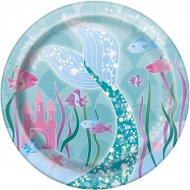 8 Petites Assiettes Princesse Sirène