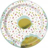 8 Petites Assiettes Donut Birthday