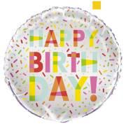 Ballon Gonflé à l'Hélium Donut Birthday