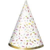 Contient : 1 x 8 Chapeaux Donut Birthday