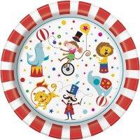 Contient : 1 x 8 Assiettes Happy Circus