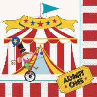 Contient : 1 x 16 Serviettes Happy Circus