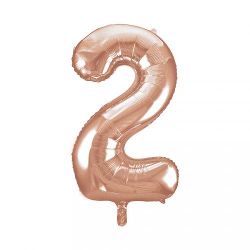 Ballon Géant Chiffre 2 Rose Gold (86 cm)