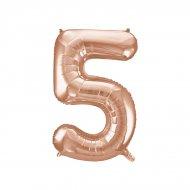 Ballon Géant Chiffre 5 Rose Gold (86 cm)