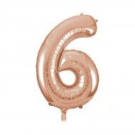 Ballon Géant Chiffre 6 Rose Gold (86 cm)