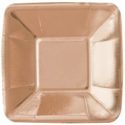 8 Mini Assiettes Rose Gold (13 cm)