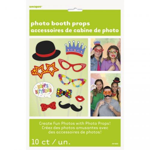 Kit 10 Photo Booth Happy Birthday