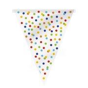 Guirlande Fanions à Pois Multicolores (3,65 m)