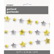 Guirlande Etoiles Little Star Or/Argent (2,74 m)