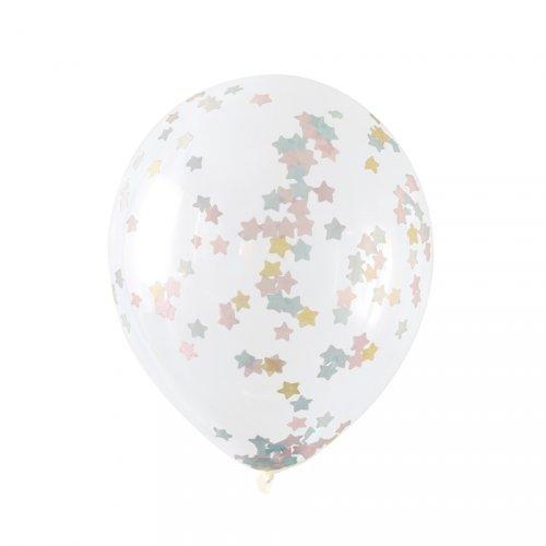 5 Ballons Confettis Twinkle Twinkle Little Star