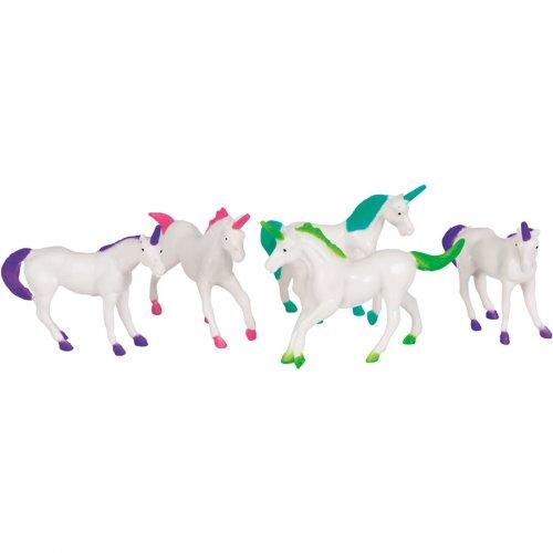 8 Petites Licornes (7 cm) - Plastique