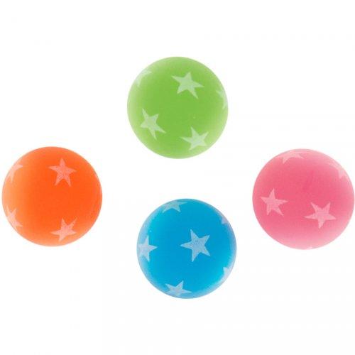 8 Balles rebondissante Etoiles Néon (3 cm)
