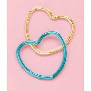 12 Bracelets Coeurs Métalisés (4 couleurs)