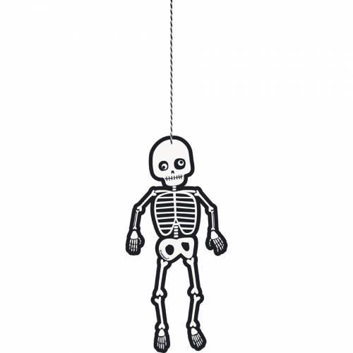 3 Décorations Squelette à suspendre