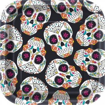 10 Petites Assiettes Calavera Skull