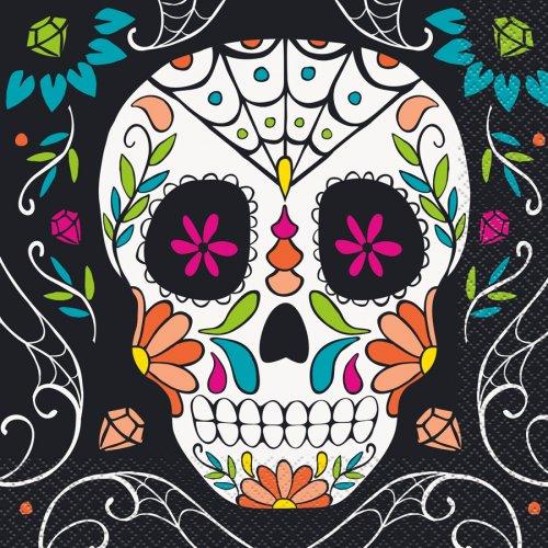 20 Serviettes Calavera Skull