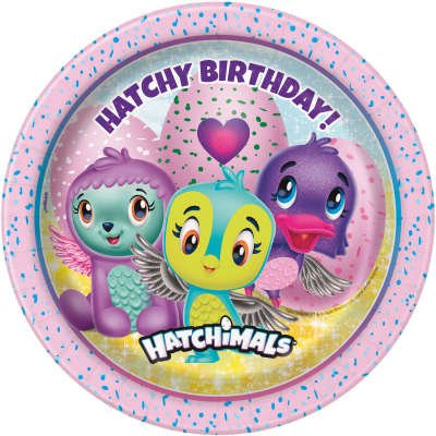 8 Petites Assiettes Hatchy Birthday Hatchimals
