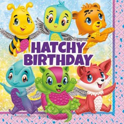 16 Petites Serviettes Hatchy Birthday Hatchimals