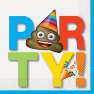 16 Serviettes Emoji Celebration