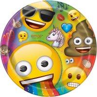 Contient : 1 x 8 Assiettes Emoji Rainbow