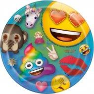 8 Petites Assiettes Emoji Rainbow