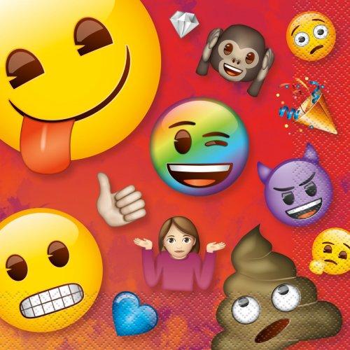 16 Serviettes Emoji Rainbow