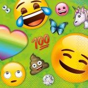 16 Petites Serviettes Emoji Rainbow