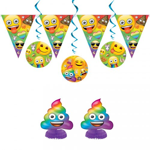 Kit 7 Décorations Emoji Rainbow
