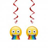 3 Guirlandes Spirales Emoji Rainbow