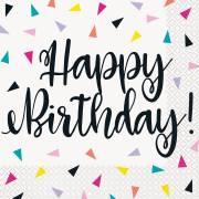 16 Serviettes Happy Birthday Fantaisie Pop