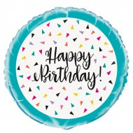 Ballon à Plat Happy Birthday Fantaisie Pop