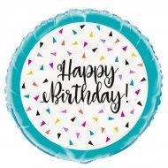 Ballon Gonflé à l'Hélium Happy Birthday Fantaisie Pop