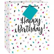 Sac Cadeau Happy Birthday Fantaisie Pop (23 cm)