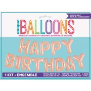 Guirlande Ballons Happy Birthday (4,26 m) - Rose Gold