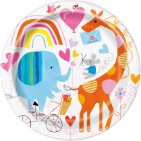 Contient : 1 x 8 Assiettes ZOO Baby