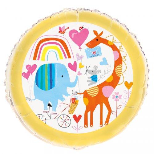 Ballon Gonflé à l Hélium ZOO Baby
