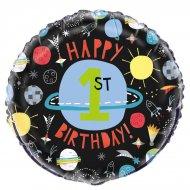 Ballon Gonflé à l'Hélium Cosmos Party 1st