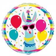 Ballon Gonflé à l'Hélium Lama Fun