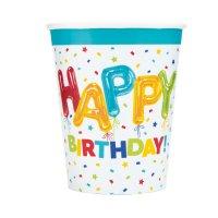 Contient : 1 x 8 Gobelets Happy Birthday Fantaisie