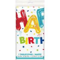 Contient : 1 x Nappe Happy Birthday Fantaisie