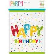8 Pochettes à Cadeaux Happy Birthday Fantaisie