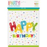 Contient : 1 x 8 Pochettes à Cadeaux Happy Birthday Fantaisie