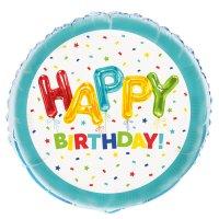 Contient : 1 x Ballon Gonflé à l'Hélium Happy Birthday Fantaisie