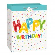 Sac Cadeau Happy Birthday Fantaisie (33 cm)