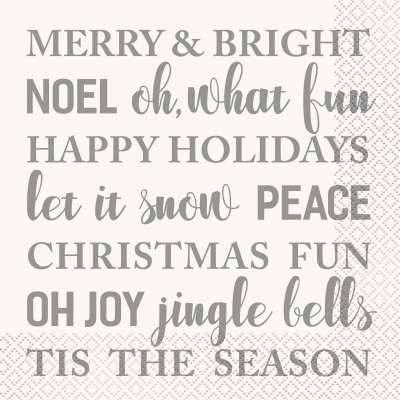 16 Serviettes Noël Holidays
