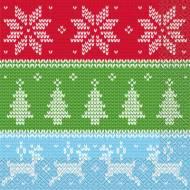 16 Serviettes Noël Tricot