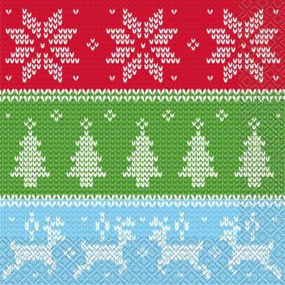 16 Serviettes Chandail Noël