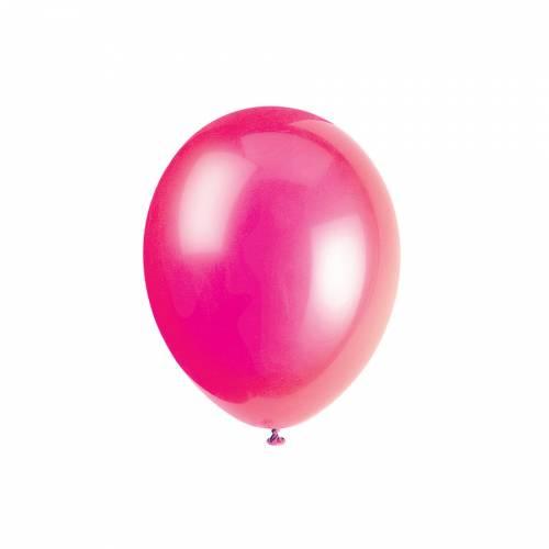 10 Ballons Fuschia
