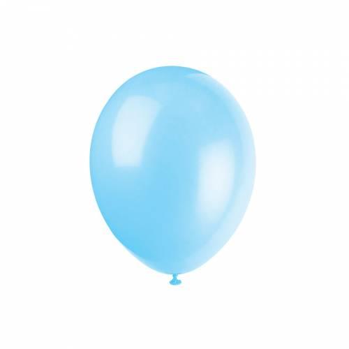 10 Ballons Bleu Clair