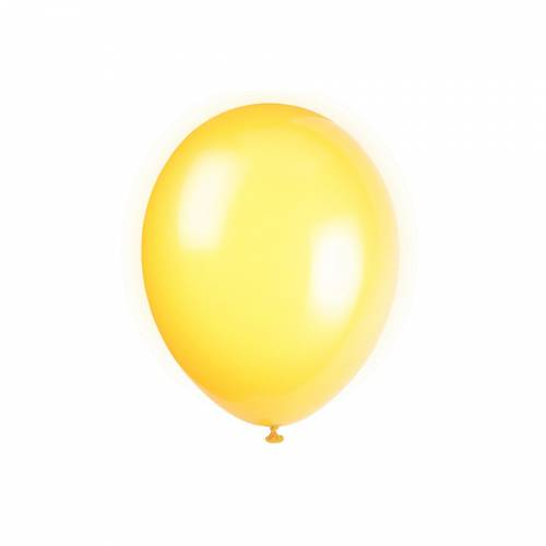 10 Ballons Jaune Citron